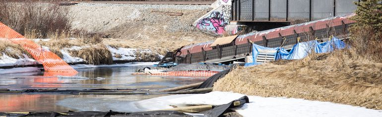 <p>Banff train derailment. Justin Parsons/ Crag & Canyon/ QMI Agency