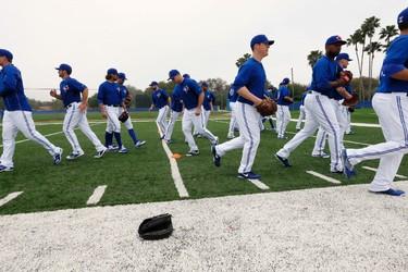 The Toronto Blue Jays' pitchers and catchers Spring Training in Dunedin,  Florida on Wednesday February 25, 2015. Stan Behal/Toronto Sun