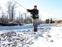 Neil Waugh casts a line on southwest Alberta's iconic Crowsnest River. (NEIL WAUGH PHOTO)