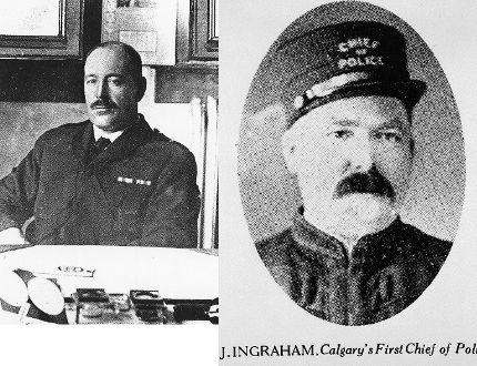 Calgary police chiefs David Ritchie and Jack Ingram