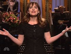 "Dakota Johnson was a bit awkward during her hosting duties on ""Saturday Night Live."" (NBC Photo)"