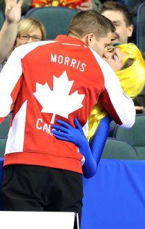John Morris kiss fan