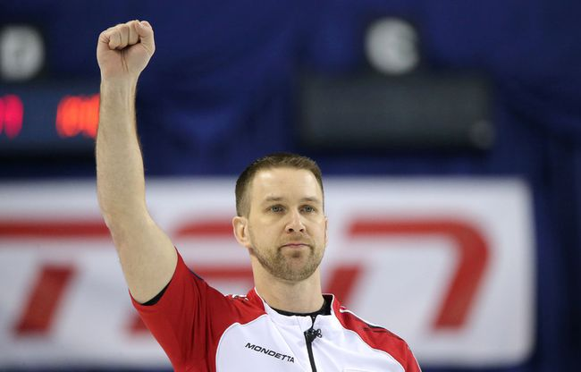 Team Newfoundland/Labrador skip Brad Gushue
