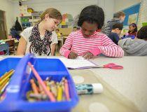 Allie Strawson Joanne Fasakin art project Westmount Charter Elementary School