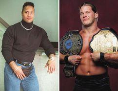 The Rock's hilarious 1997 SUNshine Boy photo and wrestler Chris Jericho. (QMI Agency/handout photo)