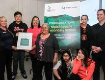 Nipisihkopahk Secondary School received $10,000 through the TransCanada Equipment Grant and Skills Canada Alberta.