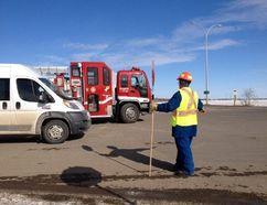 Traffic is being redirected on highway 15 north of incident in Fort Saskatchewan. Ian Kucerak/Edmonton Sun