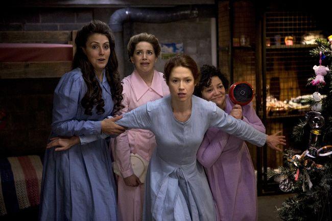 Lauren Adams, Sara Chase, Ellie Kemper and Sol Miranda in Unbreakable Kimmy Schmidt. (Handout photo)