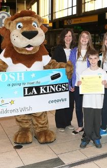 Joshua Breeze  to meet the NHL's LA Kings Children's Wish Foundation
