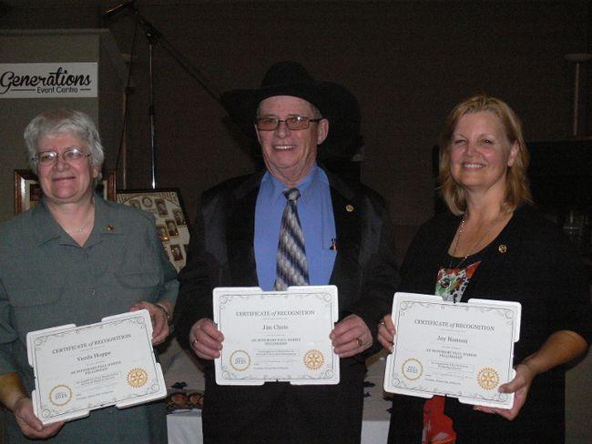 (From left to right) Verda Hoppe, Jim Chute and Joy Hanson.