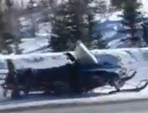 Runaway snowmobile for 12 km