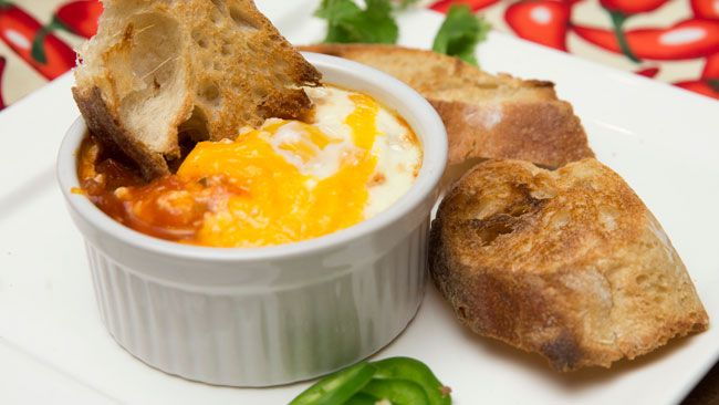 Tex Mex eggs prepared by Jill Wilcox at Jill's Table in London, Ontario on Thursday February 5, 2015. (CRAIG GLOVER/The London Free Press/QMI Agency)