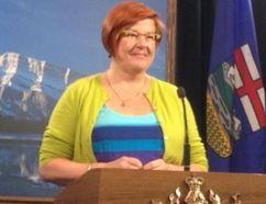 Alberta Liberal MLA Laurie Blakeman announces she'll represent three parties at the next provincial election. (Dave Lazzarino/EDMONTON SUN)
