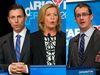 Progressive Conservative Part leadership candidates, from left, Patrick Brown, Christine Elliott and Monte McNaughton. (Toronto Sun files)