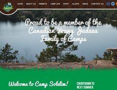 Camp Solelim website homepage. (campsolelim.ca)
