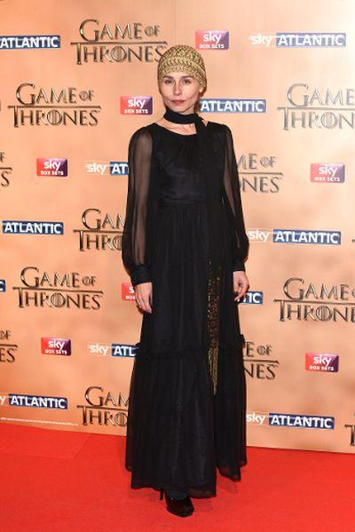"'Game of Thrones' world premiere held at the Tower of London on March 18, 2015 featuring Tara Fitzgerald. (Daniel Deme/<A HREF=""http://www.wenn.com"" TARGET=""newwindow"">WENN.COM</a>)"