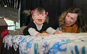 Pip McCallan, left, with her mother Tara. (Julia McKay/Kingston Whig-Standard/Postmedia Network)