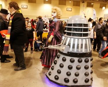 Fans enjoy Toronto ComiCon at the Metro Toronto Convention Centre on March 21, 2015. (Veronica Henri/Toronto Sun)