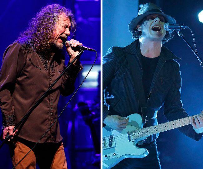 (L-R) Robert Plant and Jack White. (Reuters file photos)