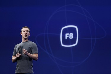 Facebook CEO Mark Zuckerberg speaks during his keynote address at Facebook F8 in San Francisco, March 25, 2015. REUTERS/Robert Galbraith