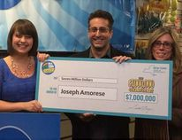 Joseph Amorese won $7 million with a scratch ticket. (Handout)