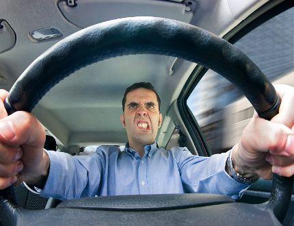 Photo illustration Road rage