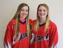 U19 Team Ontario ringette players Emma Eccles and Breanna Hahn.