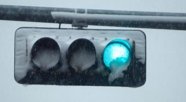 Winter blast no April Fool's joke. Wet freezing snow was sticking to everything including street lights in Edmonton on Tuesday April 1, 2015. Tom Braid/Edmonton Sun/ QMI Agency