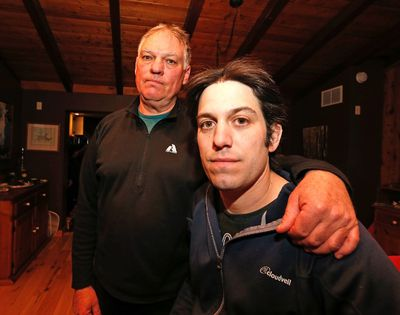 Russell Gillman and son Jamie Gillman Wednesday, April 1, 2015. (Michael Peake/Toronto Sun)
