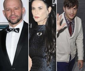 Jon Cryer, Demi Moore and Ashton Kutcher (WENN.COM)