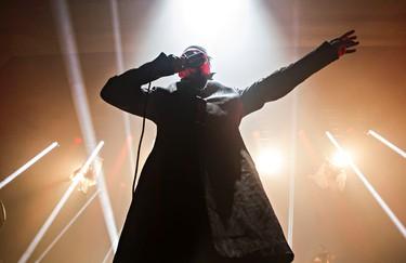 Marilyn Manson performs at the Shaw Conference Centre in Edmonton, Alta., on Thursday, April 2, 2015. Codie McLachlan/Edmonton Sun/Sun Media