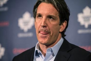 Toronto Maple Leafs President Brendan Shanahan holds end of year press conference  in Toronto on Monday April 13, 2015. Craig Robertson/Toronto Sun/Postmedia Network