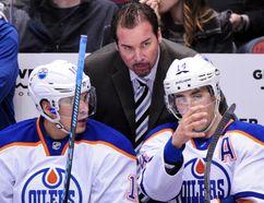 Todd Nelson remains Edmonton Oilers interim head coach until GM Craig MacTavish makes up his mind on the future direction of the team (Matt Kartozian, USA TODAY).