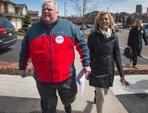 Councillor Rob Ford and Tory leadership hopeful Christine Elliot are pictured together. (ERNEST DOROSZUK, Toronto Sun)