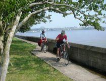 A scenic spot for biking is along the Niagara River near Niagara Falls. (Handout)