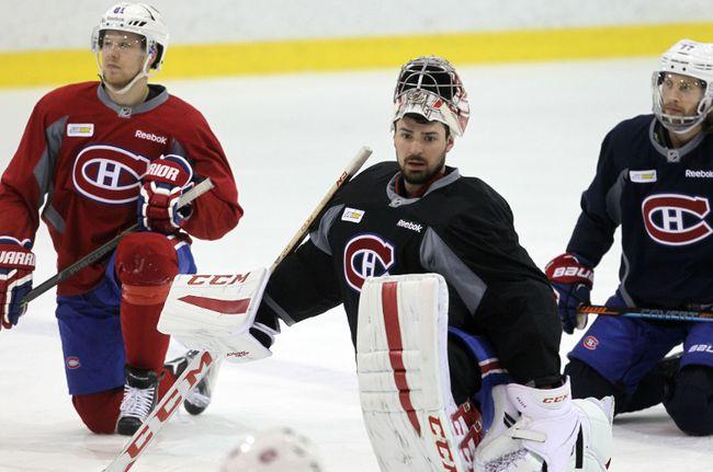 <p>Montreal Canadiens goalie Carey Price practises at the St. Jovite Arena on Tuesday ahead of Game 4 against the Ottawa Senators. (Chris Hofley/Ottawa Sun)