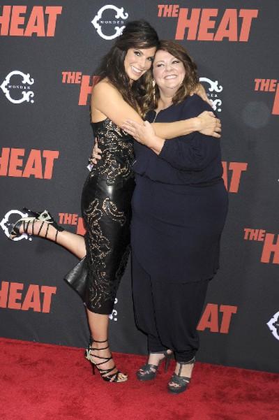 "Sandra Bullock, Melissa McCarthy at the New York Premiere of ""The Heat"". Dennis Van Tine/WENN.com"