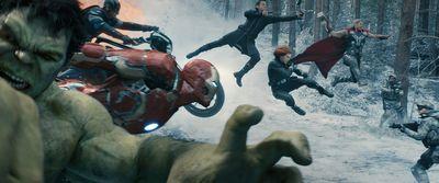 Marvel's Avengers: Age Of Ultron..L to R: Hulk (Mark Ruffalo), Captain America (Chris Evans), Iron Man (Robert Downey Jr.), Hawkeye (Jeremy Renner), Black Widow (Scarlett Johansson), and Thor (Chris Hemsworth).