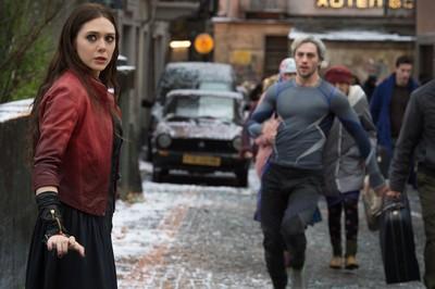 Scarlet Witch/Wanda Maximoff (Elizabeth Olsen) and Quicksilver/Pietro Maximoff (Aaron Taylor-Johnson).