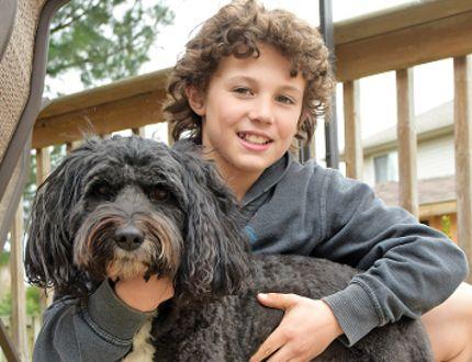 Eleven-year-old Brandon Balazs and Eddie. (CHRIS ABBOTT/TILLSONBURG NEWS)