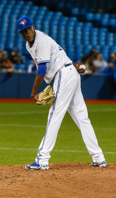 Toronto Blue Jays pitcher Miguel Castro vs. the Baltimore Orioles on April 22. (Dave Thomas/Toronto Sun/Postmedia Network)