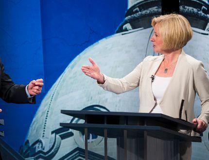 Prentice Notley leaders' debate
