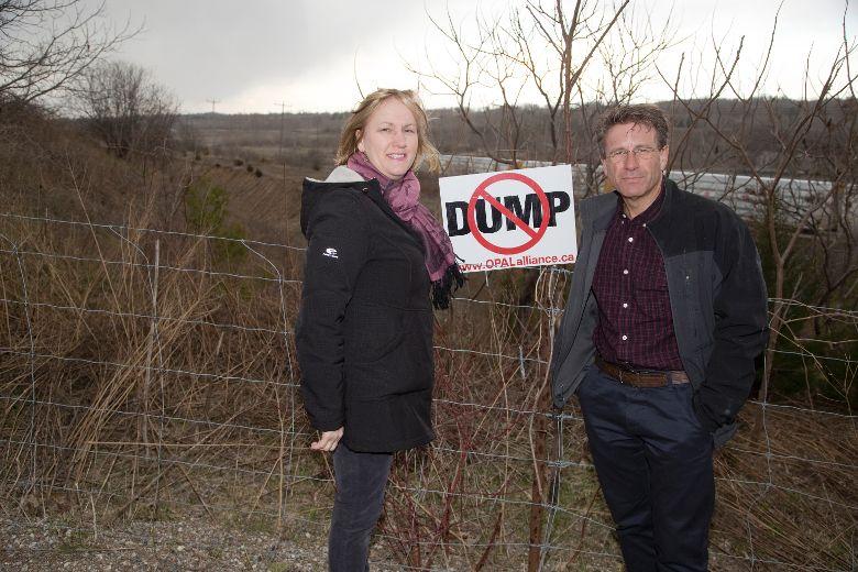 Burning Garbage Dump Garbage Dump in Ingersoll