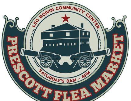 The logo for the Prescott Flea Market.