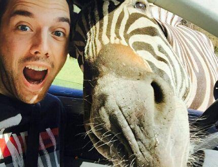 Selfie with a zebra