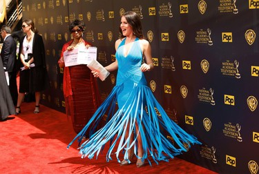 Actress Kira Reed Lorsch arrives at the 42nd Annual Daytime Emmy Awards in Burbank, California April 26, 2015.  REUTERS/Patrick Fallon
