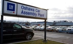 GM Oshawa's assembly plant. (Postmedia files)