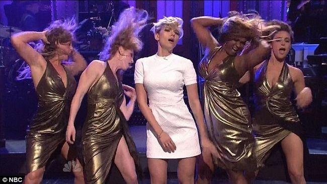 "Scarlett Johansson on ""Saturday Night Live."" (Supplied)"