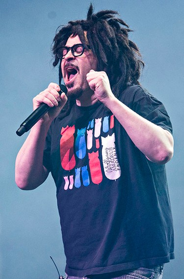 Counting Crows frontman Adam Duritz performs at the Nothern Alberta Jubilee Auditorium in Edmonton, Alta. on Monday, May 4, 2015. Codie McLachlan/Edmonton Sun/Postmedia Network