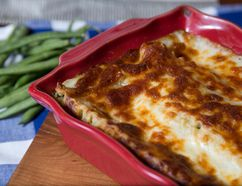 Green bean lasagna by Jill Wilcox in London, Ontario on Monday, April 6, 2015. (DEREK RUTTAN/ The London Free Press /QMI AGENCY)